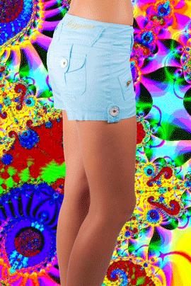 MISCHA CARGO SHORT TIFFANY BLUE