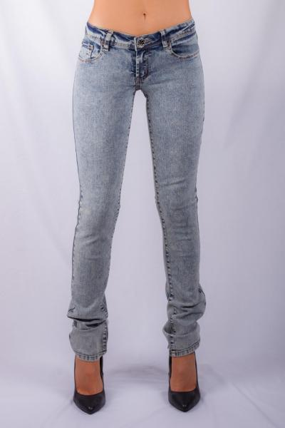 Women's skinny jean indigo blue snow wash