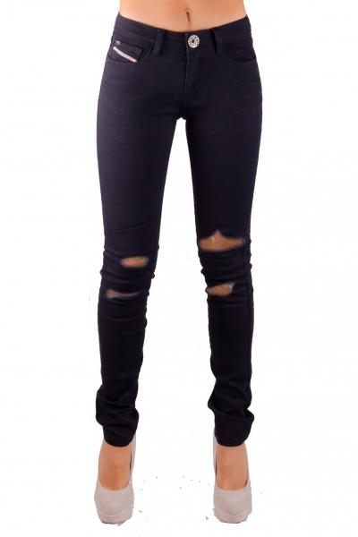 STAGGERS SKINNY BLACK TRASHED RIPPED JEAN