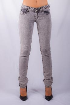 Women's skinny jean black snow wash