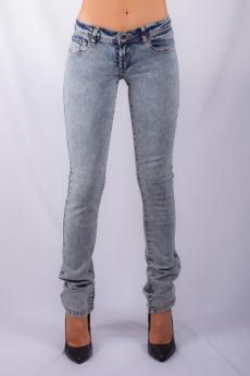 Women's skinny jean indigo blue snow wash