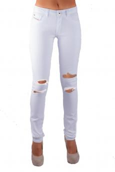 STAGGERS SKINNY WHITE TRASHED RIPPED JEAN